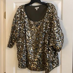 6th & Lane Sequin top